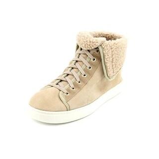 Cole Haan Raven Hightop Women Leather Tan Fashion Sneakers