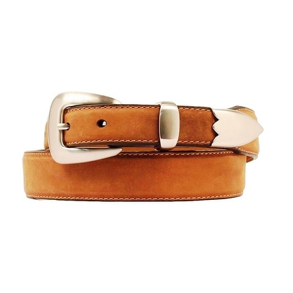 Nocona Western Belt Mens Leather Smooth Tapered Copper