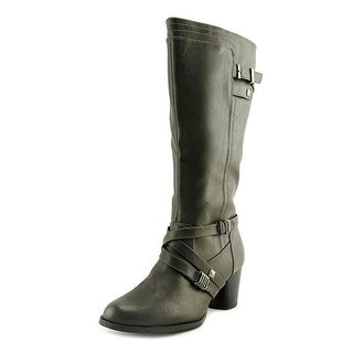 Rialto Claudette Wide calf Women Round Toe Leather Knee High Boot