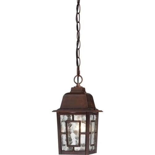 Nuvo Lighting 60/4932 Banyon Single-Light Hanging Lantern with Clear Water Glass Panels