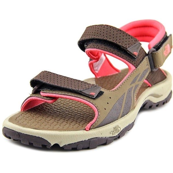 The North Face Storm Women Open-Toe Leather Brown Fisherman Sandal