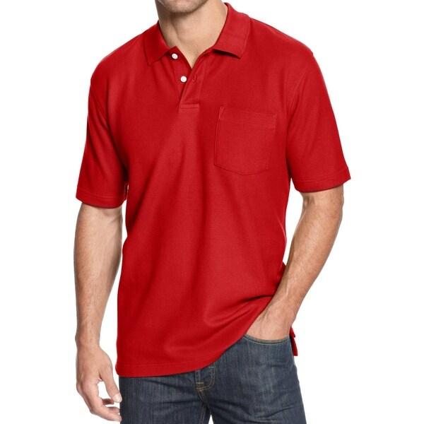 John Ashford Mens Big & Tall Polo Shirt Pocket Polo - 3xb