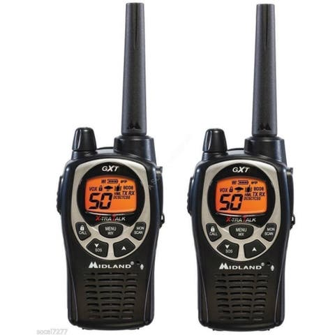 Midland GXT1000VP4, 50 Channel GMRS Two Way Radio (2 Pack)