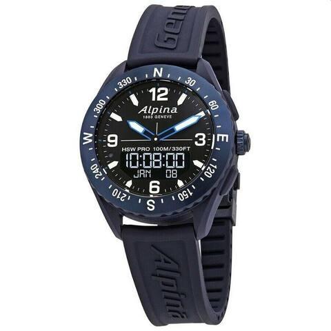 Alpina Men's AL-283LBN5NAQ6 'Alpiner X' Blue Rubber Watch - Black