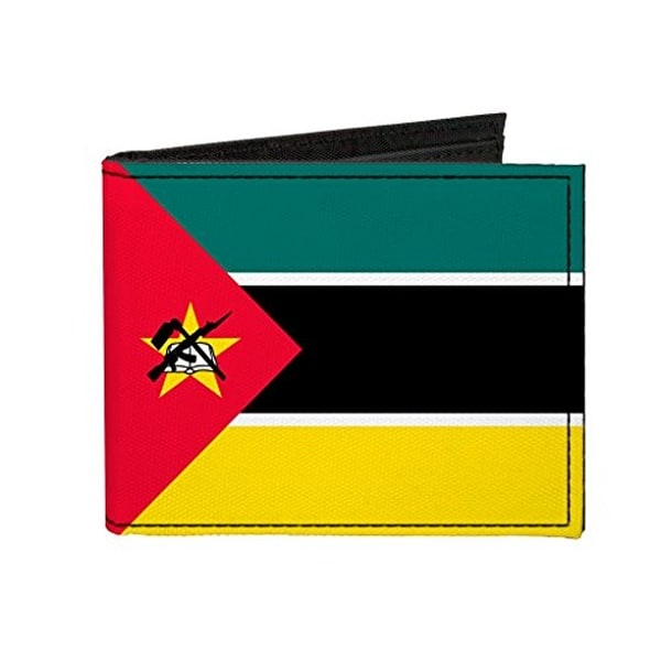 Buckle-Down Canvas Bi-fold Wallet - Mozambique Flag Accessory
