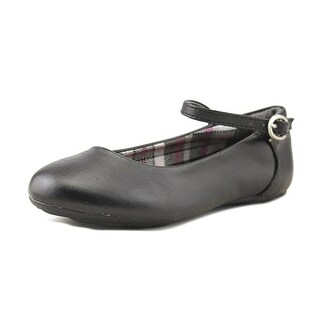 French Toast Catherine Toddler Round Toe Synthetic Black Mary Janes