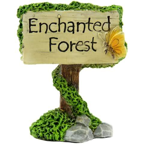"Fairy Garden Enchanted Forest Sign-2.5"""