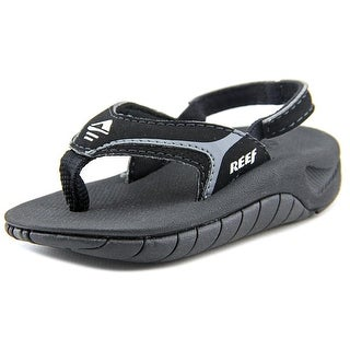 Reef Kid's Slap II Youth Open-Toe Synthetic Black Sport Sandal