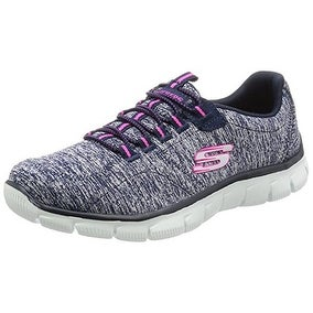 Skechers Sport Women's Heart To Heart Fashion Sneaker, Navy Pink, 7.5 M US