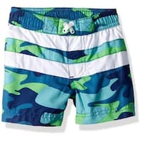 iXtreme Boys 12-24 Months Camo  Swim Trunk - Green