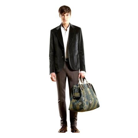 Gucci Men's Runway Green Velvet Jacket Blazer 298957