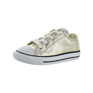 Converse Girls CTAS Ox Casual Shoes Metallic Fashion - 9 medium (b,m) toddler