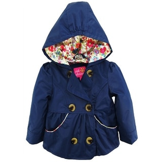Pink Platinum Toddler Girls Emma Spring Jacket Double Breasted Trench Coat