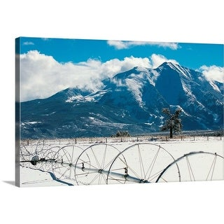 """""""Mount Sopris over ranch in Carbondale, CO"""" Canvas Wall Art"""