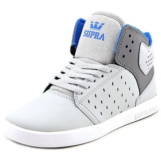 Supra Kids Atom Round Toe Leather Sneakers