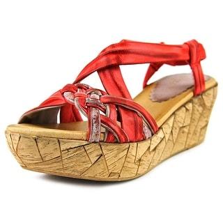 Azura Jaques Women  Open Toe Leather  Wedge Sandal