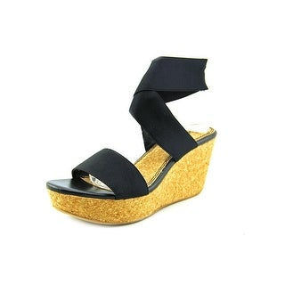 Splendid Geena Open Toe Canvas Wedge Sandal