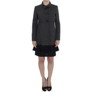 BENCIVENGA BENCIVENGA Gray Wool Button Collar Coat Jacket