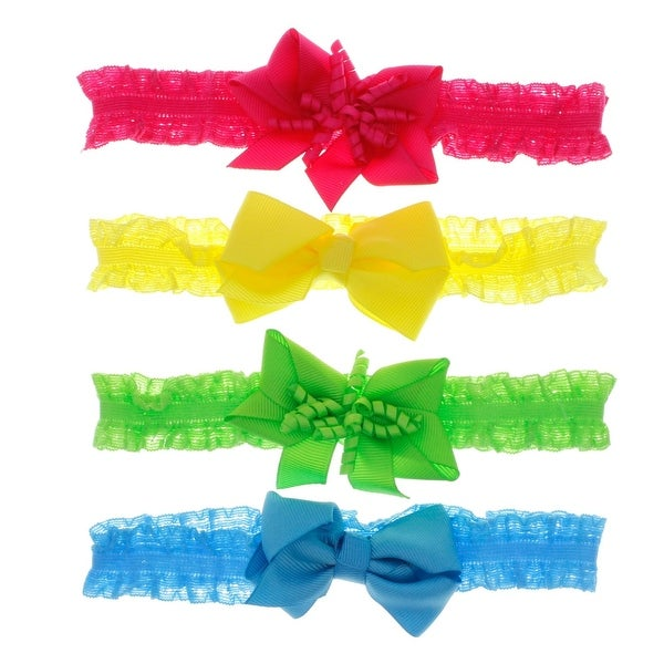 Little Fashionista Lace and Bow Headband Set