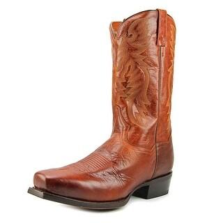 Dan Post DP2412 Men  Square Toe Leather Brown Western Boot