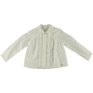 Chloe Girls Bianca Ruffled Dress Shirt - 4