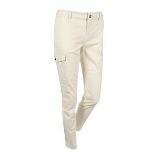 Lauren Ralph Lauren Women's Solid Stretch Pants - modern cream