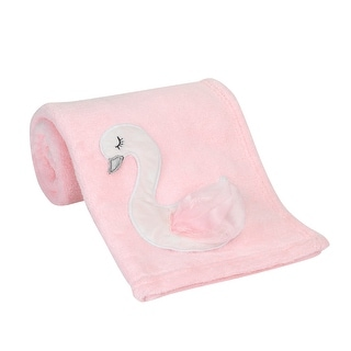 Link to Bedtime Originals Blossom Pink/White Swan Coral Fleece Baby Blanket Similar Items in Baby Blankets