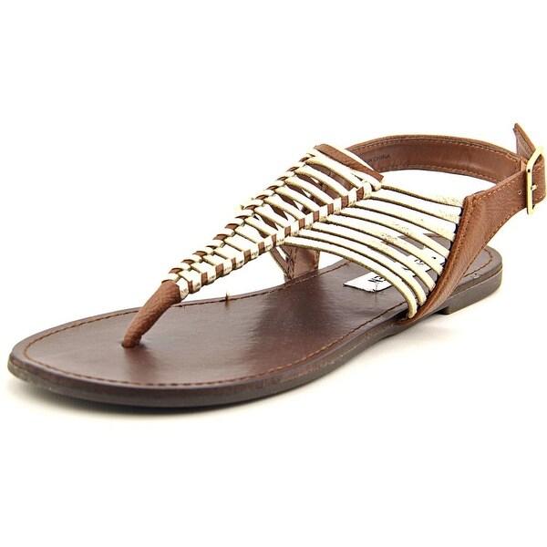 Steve Madden Starly Women Open-Toe Synthetic Gold Slingback Sandal
