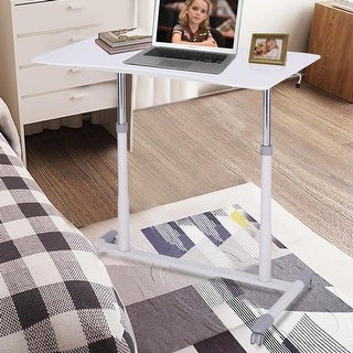 Costway Height Adjustable Computer Desk Sit-Stand Rolling Notebook Table Stand Portable