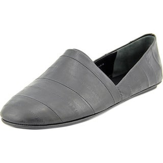Vince Bogart Women Round Toe Leather Black Loafer