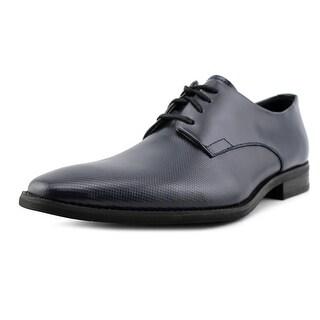 Calvin Klein Ramses Men Plain Toe Leather Blue Oxford