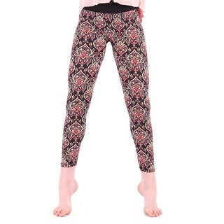 Lori&Jane Girls Multi Oriental Art Deco Mixed Print Stretchy Leggings