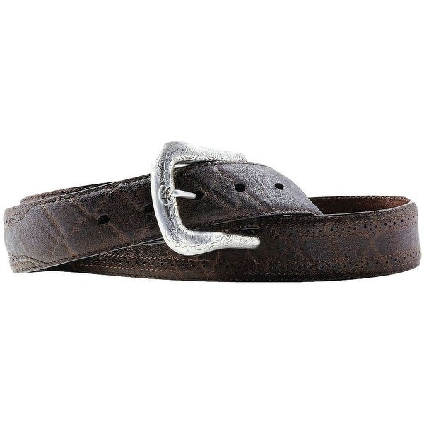 Ariat Western Belt Mens Leather Perforated Chocolate