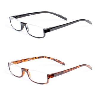 Half Rim Rectangle Reading Glasses- 2 Pairs