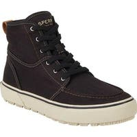 Sperry Top-Sider Men's Bahama Lug Naval Ankle Boot Black Canvas
