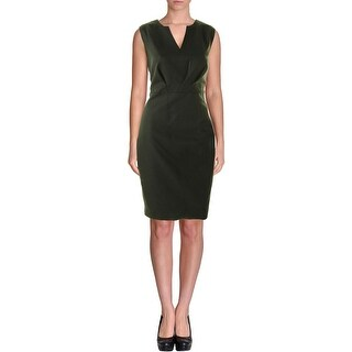 Elie Tahari Womens Vernon Wear to Work Dress V-Neck Sleeveless