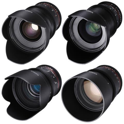 ROKINON CINE DS T1.5 Cinema Lens Kit - 50mm + 35mm + 85mm + 24mm