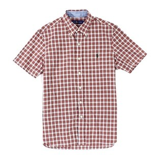 Polo Ralph Lauren Red Mens Size Small S Plaid Button Down Shirt