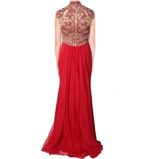 JVN by Jovani Womens Chiffon Embellished Formal Dress