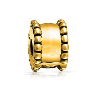 Bling Jewelry Gold Plated Stopper Charm .925 Sterling Silver