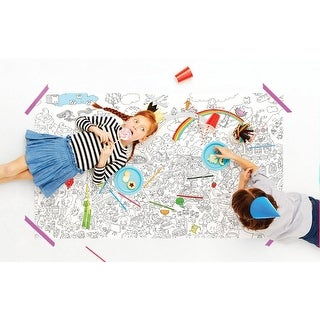 """Really Big Coloring Kids Poster - Food Fight - 63"""" x 36"""""""