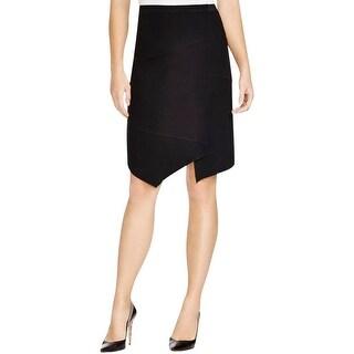 Elie Tahari Womens Minka Pencil Skirt Crepe Asymmetric
