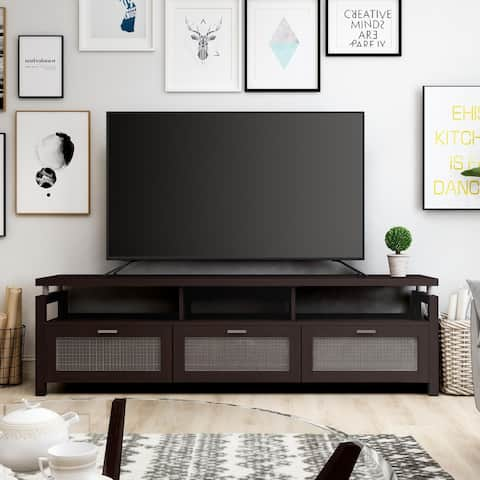 Furniture of America Posa Modern 71-inch Espresso Wood TV Console