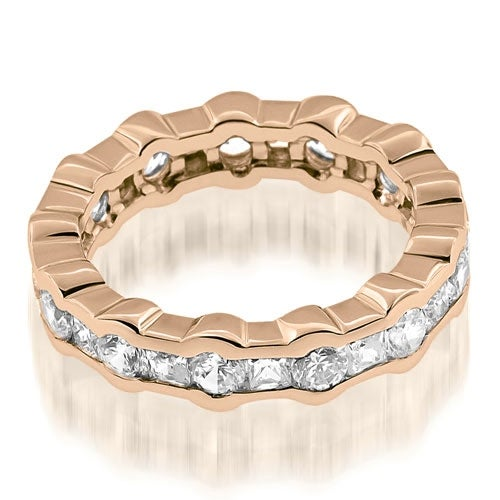 2.50 cttw. 14K Rose Gold Stylish Channel Round Princess Diamond Eternity Band