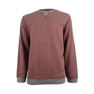 Tasso Elba Men's Colorblocked Stripe Sweatshirt (XXL, Auburn Heather) - auburn heather - XxL