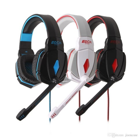 Each G4000 Gaming Headset Surround Stereo Headphone USB 3.5mm LED with Mic for PC