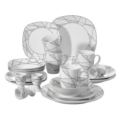 VEWEET 'Serena' Porcelain Dinnerware Set (Service for 4)