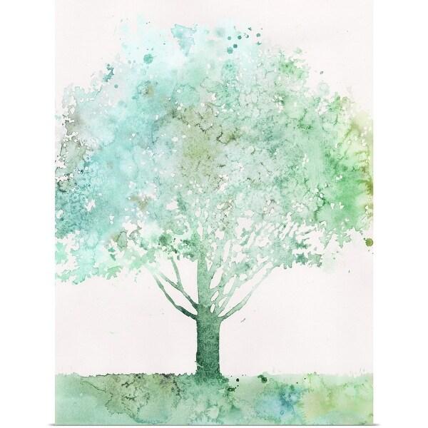 """Aquamarine Tree I"" Poster Print"