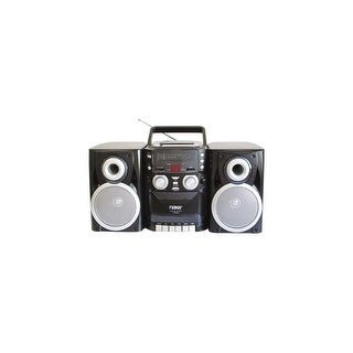 Naxa NPB426 Naxa NPB-426 Mini Hi-Fi System - 16 W RMS - iPod Supported - Black - CD Player, Cassette Recorder - AM, FM - 2