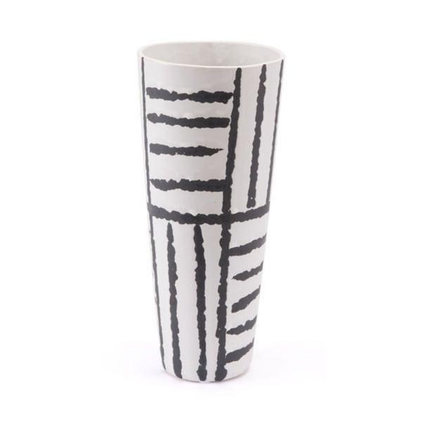 Small Grpahic Vase Black & White